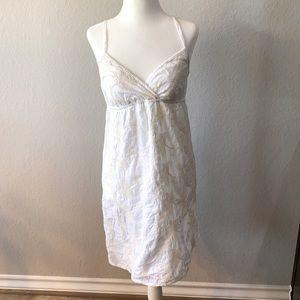 White & Ivory Cream Cotton Dress